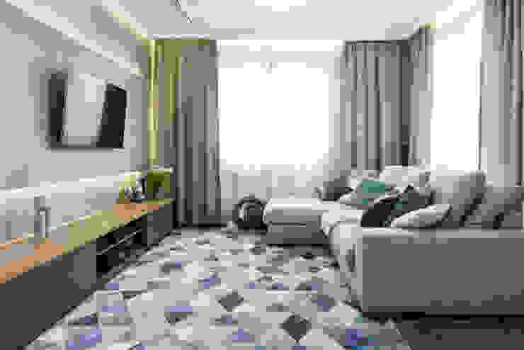 Apartament Dąbie Nowoczesny salon od Q2Design Nowoczesny