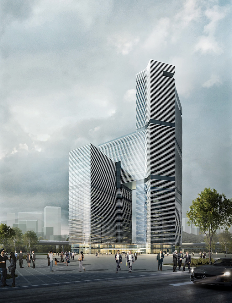 Nansha Kingboard Free Trade Zone Mixed-use Project, Guangzhou, China by Architecture by Aedas
