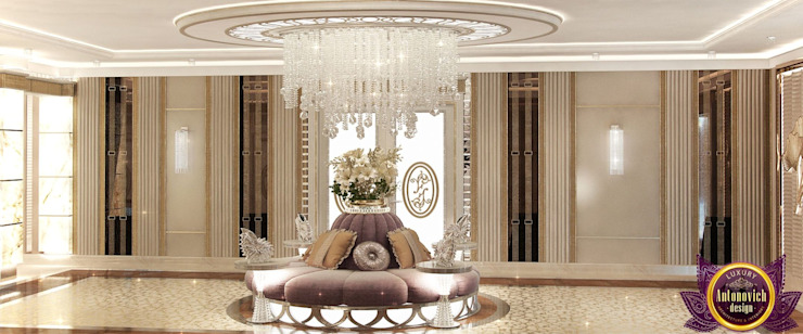  Entrance interior design ideas by Katrina Antonovich Modern Corridor, Hallway and Staircase by Luxury Antonovich Design Modern