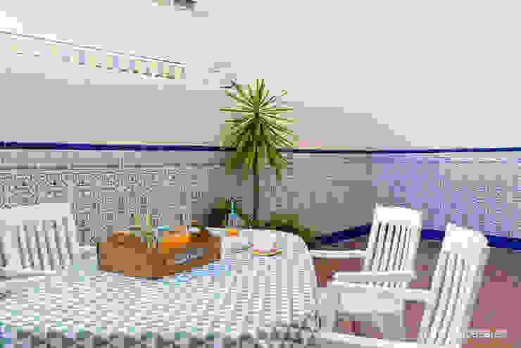 بلكونة أو شرفة تنفيذ custom casa home staging, بحر أبيض متوسط