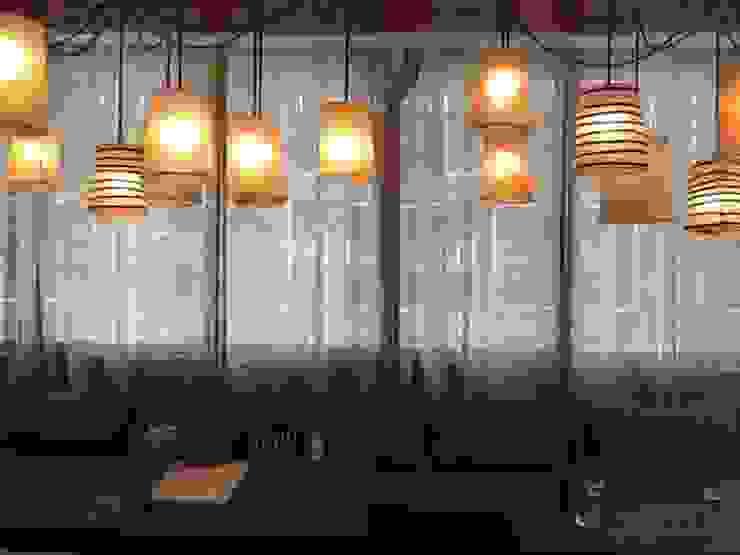 Tende in lino per un Ristorante di Miami_Florida di ERcreazioni - Eleonora Rossetti Creazioni Rustico Lino Rosa