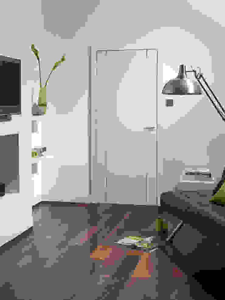 Forli White Internal Door: modern  by Modern Doors Ltd, Modern Engineered Wood Transparent