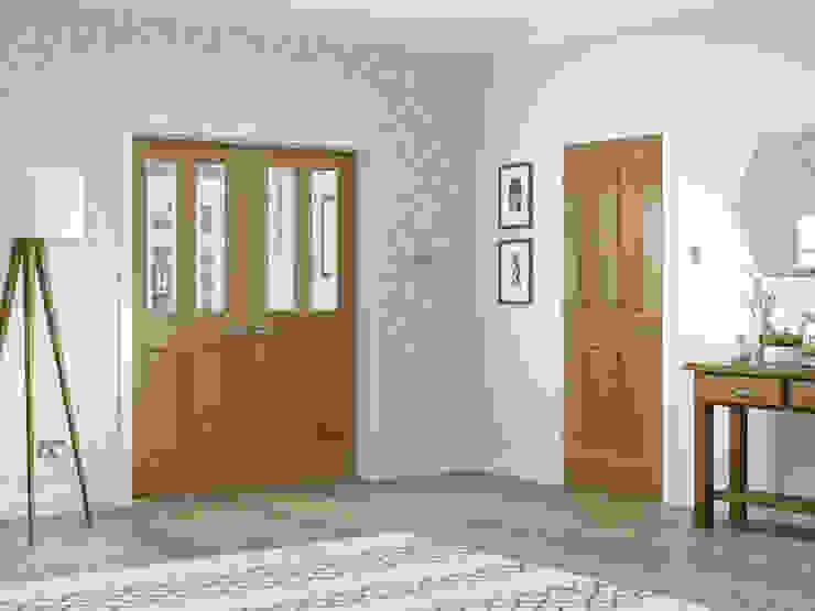 Colonial 4 Panel Oak Internal Door and Malton Oak Rebated Pair: classic  by Modern Doors Ltd, Classic Engineered Wood Transparent