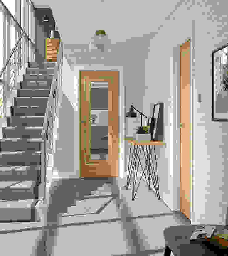 Varese Oak Internal Door: modern  by Modern Doors Ltd, Modern Engineered Wood Transparent