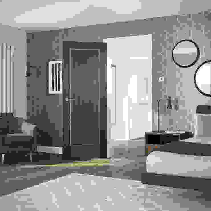 Varese Walnut Internal Door: modern  by Modern Doors Ltd, Modern Engineered Wood Transparent
