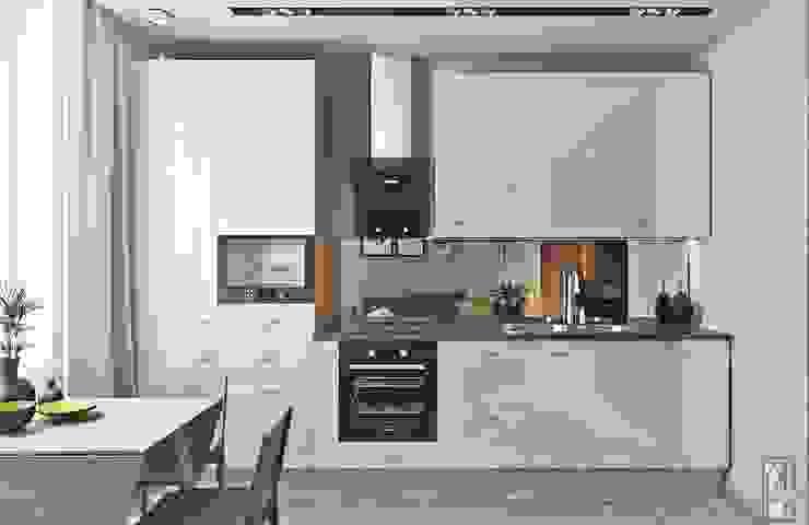 СВЕТЛАНА АГАПОВА ДИЗАЙН ИНТЕРЬЕРА Cocinas de estilo minimalista Blanco