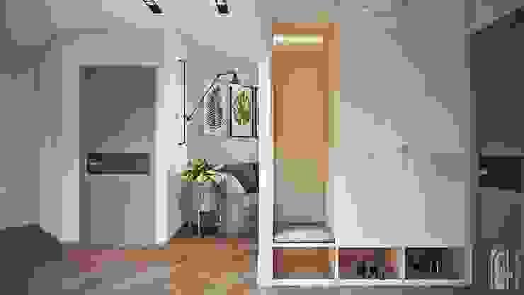СВЕТЛАНА АГАПОВА ДИЗАЙН ИНТЕРЬЕРА Pasillos, vestíbulos y escaleras de estilo minimalista Beige