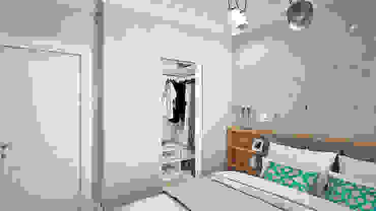 غرفة الملابس تنفيذ Ирина Рожкова - частный дизайнер интерьера, إسكندينافي ألواح خشب مضغوط