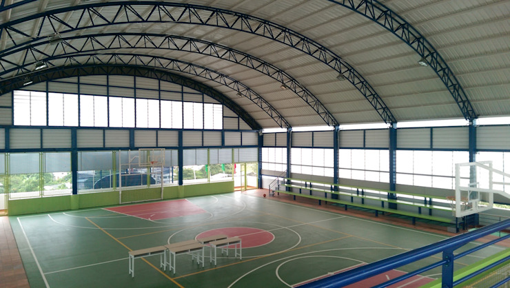 Coliseo cubierto Gimnasios de estilo moderno de Lina Rosas Diseño Interior Moderno