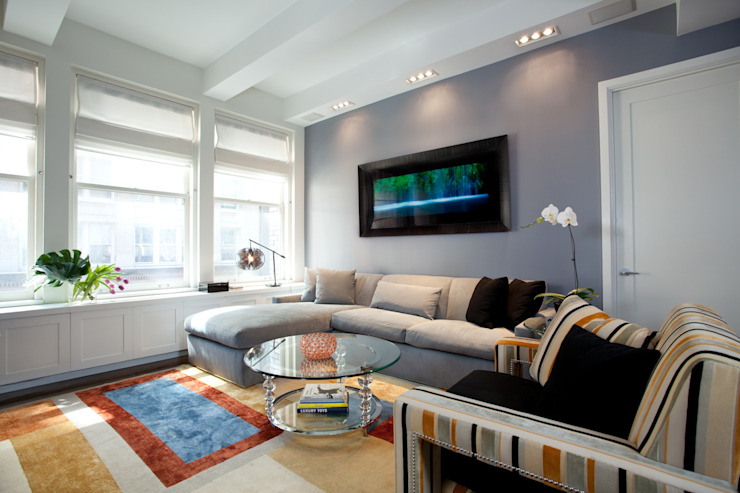 Bachelor Pad Classic style living room by JKG Interiors Classic