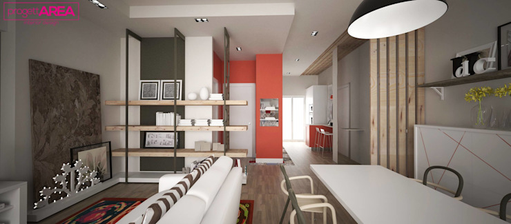 غرفة السفرة تنفيذ progettAREA interni & design , إنتقائي