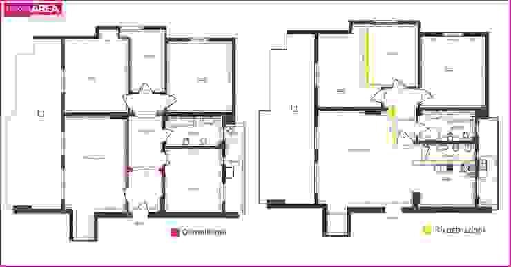 Salas / recibidores de estilo  por progettAREA interni & design , Ecléctico