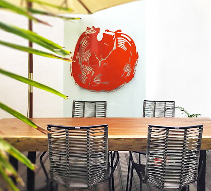 Casa Damas Sentido Arquitectura Balcones y terrazas modernos Naranja