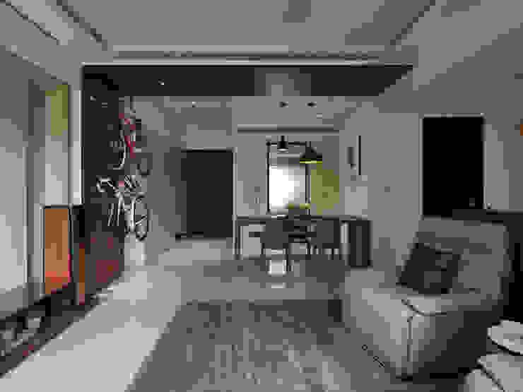 居家空間化身休閒影院 現代風玄關、走廊與階梯 根據 星葉室內裝修有限公司 現代風