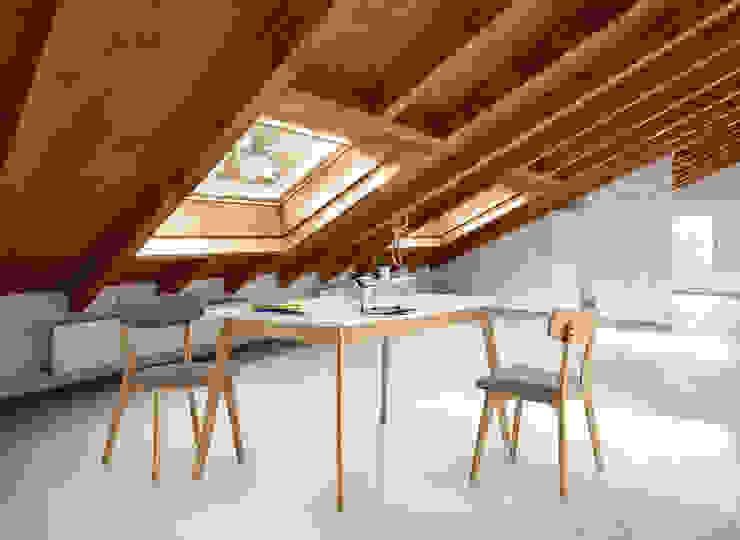 Buhardilla madera estilo escandinavo de somcasa Escandinavo