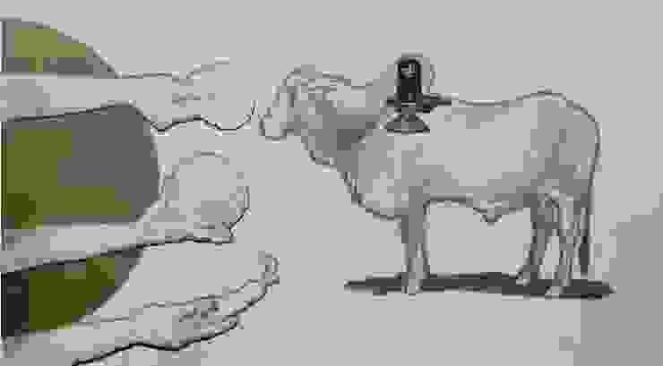 """Pick Vibrant """"Hafta Vasool"""" Painting from Indian Art Ideas!: asian  by Indian Art Ideas,Asian"""