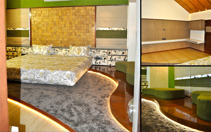 Interior of Nikhil Prajapati Modern style bedroom by Architects at Work Modern