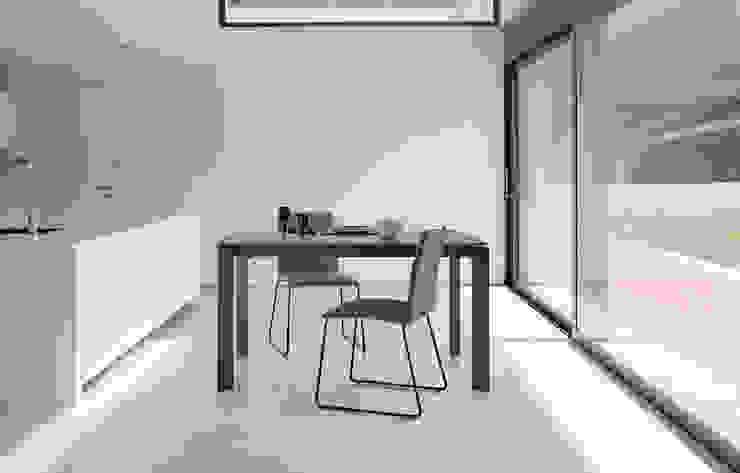 Cocina moderna con mesa cerámica somcasa CocinaMesas, sillas y bancos Cerámico
