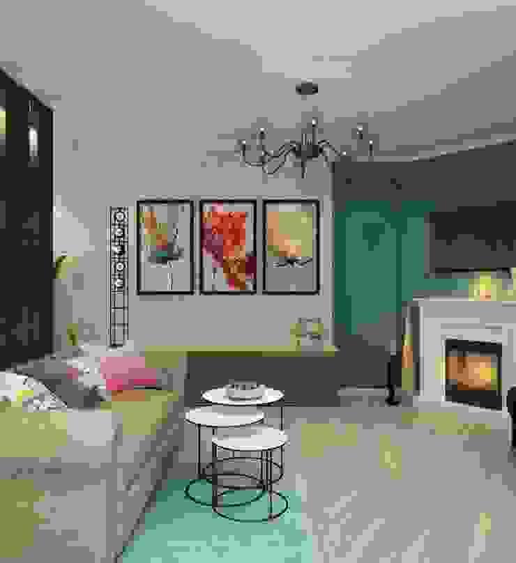 ДизайнМастер Modern Living Room Turquoise