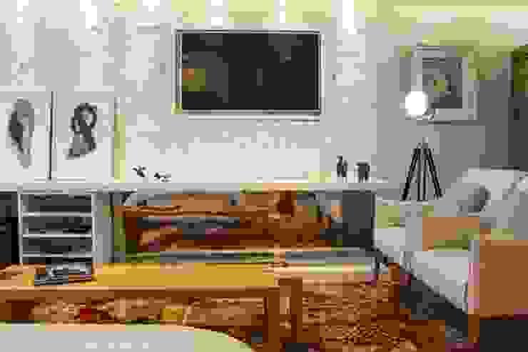 Modern living room by MAGEN | Revestimentos Cimentícios Modern