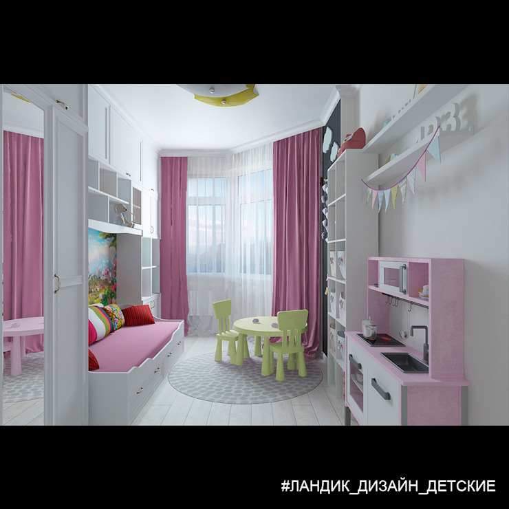 Nursery/kid's room by LANDIK INTERIOR DESIGN,