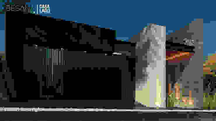 Fachada Norte Casas modernas de Besana Studio Moderno
