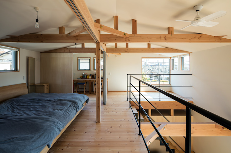Minimalist bedroom by coil松村一輝建設計事務所 Minimalist