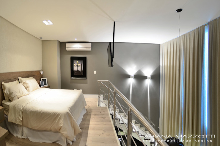 Moderne slaapkamers van Fabiana Mazzotti Arquitetura e Interiores Modern