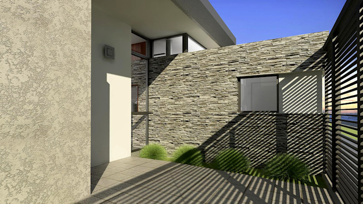 現代房屋設計點子、靈感 & 圖片 根據 unoenseis Estudio 現代風