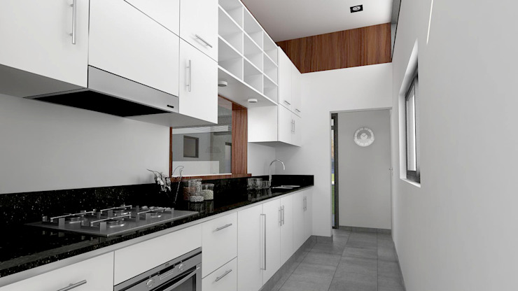 Kitchen by unoenseis Estudio, Modern