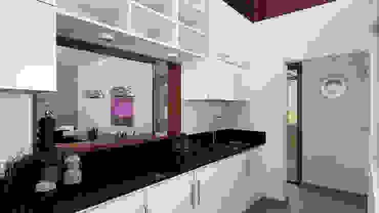 現代廚房設計點子、靈感&圖片 根據 unoenseis Estudio 現代風