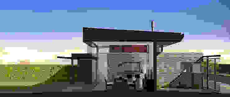 现代客厅設計點子、靈感 & 圖片 根據 unoenseis Estudio 現代風