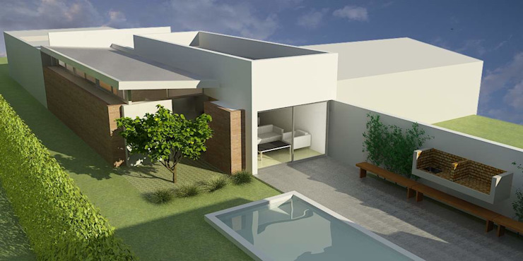 Casas minimalistas por unoenseis Estudio Minimalista