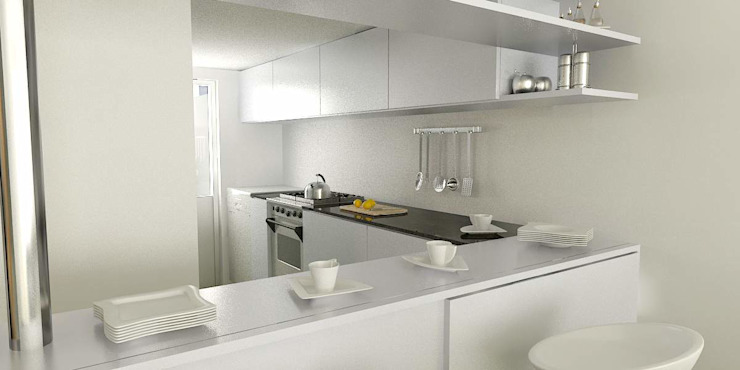 Kitchen by unoenseis Estudio, Minimalist