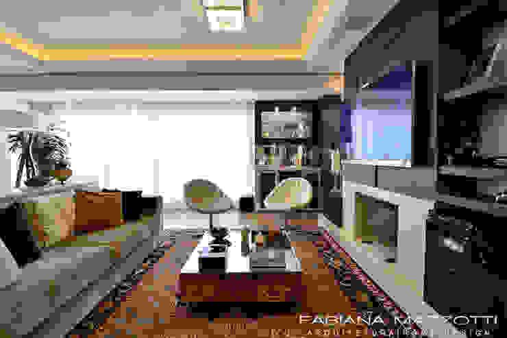 Livings de estilo moderno de Fabiana Mazzotti Arquitetura e Interiores Moderno