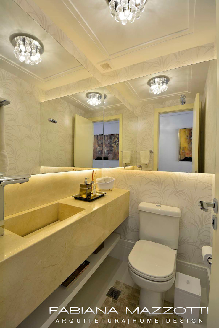 Baños de estilo moderno de Fabiana Mazzotti Arquitetura e Interiores Moderno
