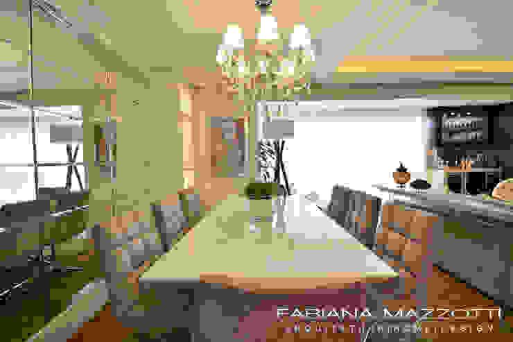 Comedores de estilo moderno de Fabiana Mazzotti Arquitetura e Interiores Moderno