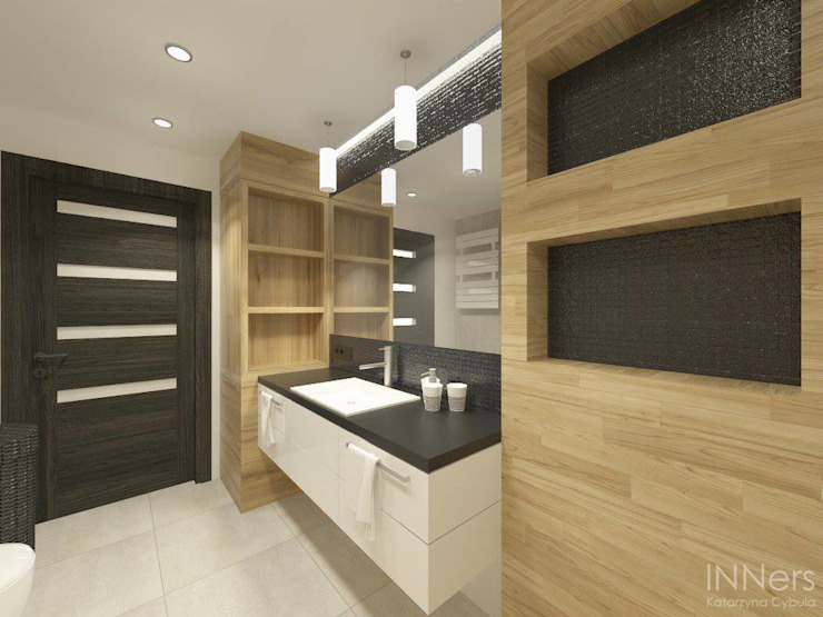 Modern bathroom by INNers - architektura wnętrza Modern