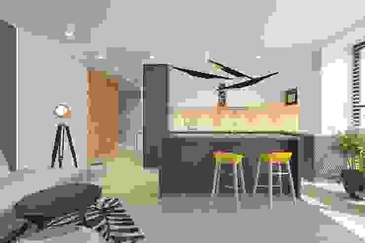 مطبخ تنفيذ INNers - architektura wnętrza,