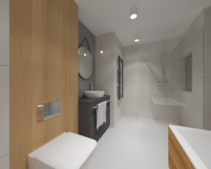 حمام تنفيذ INNers - architektura wnętrza,
