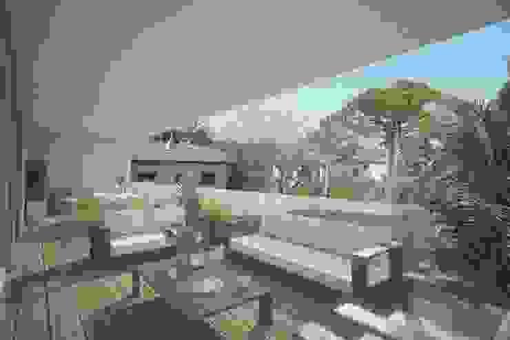 Modern balcony, veranda & terrace by Ivan Rivoltella Modern