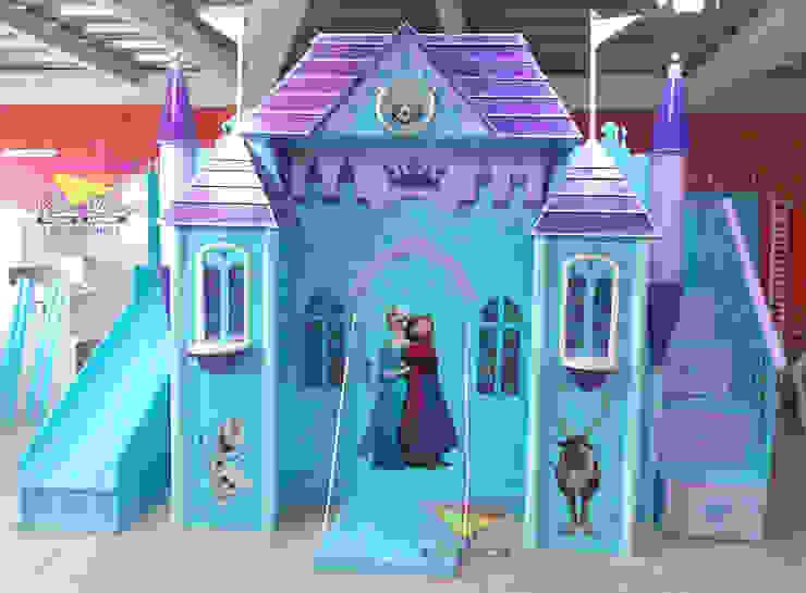 Hermoso castillo de Frozen de camas y literas infantiles kids world Clásico Derivados de madera Transparente