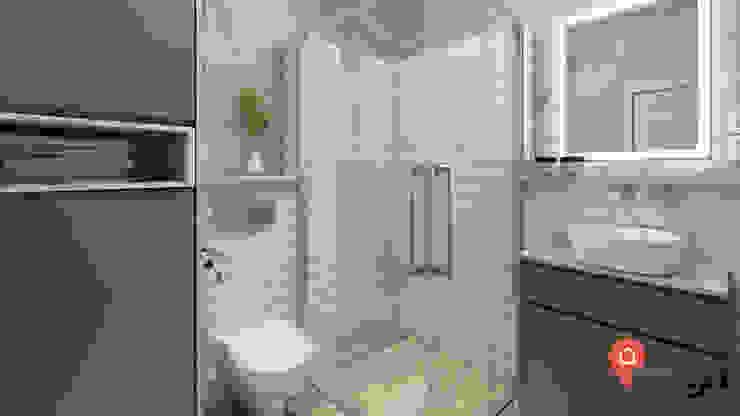 Bt_02 InSign Pracownia Projektowa Karolina Wójcik Eklektyczna łazienka