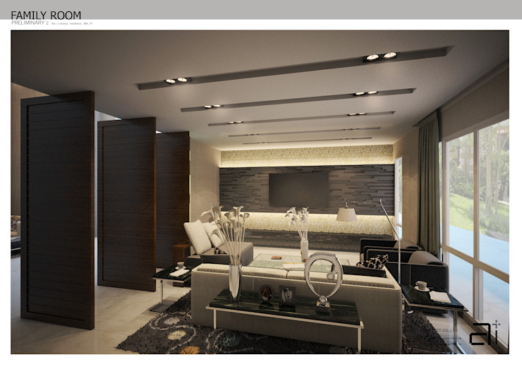 INTERIOR DESIGN THE RESIDENCE 3: ผสมผสาน  โดย Glam interior- architect co.,ltd, ผสมผสาน กระจกและแก้ว