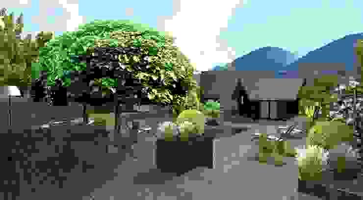 Anthemis Bureau d'Etude Paysage Moderner Balkon, Veranda & Terrasse