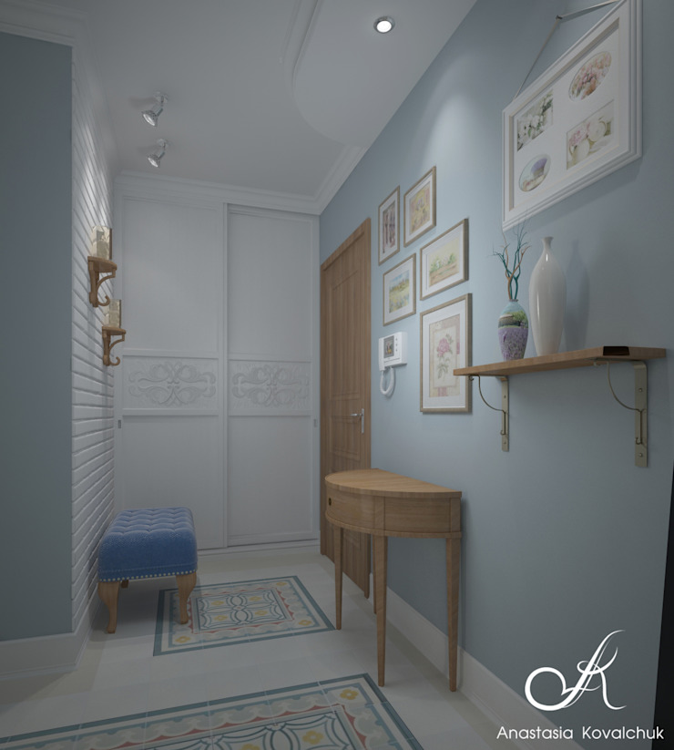Apartment in Moscow Classic style corridor, hallway and stairs by Design studio by Anastasia Kovalchuk Classic