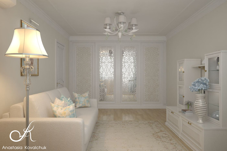 Apartment in Moscow Classic style bedroom by Design studio by Anastasia Kovalchuk Classic