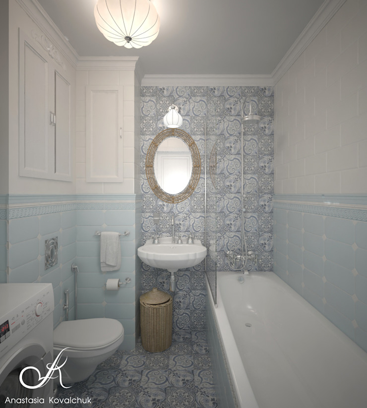 Apartment in Moscow Classic style bathroom by Design studio by Anastasia Kovalchuk Classic