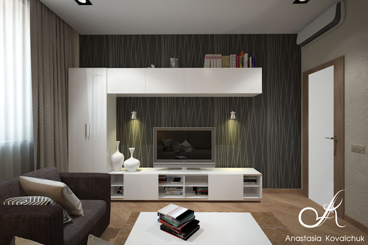 Apartment in Moscow Modern Study Room and Home Office by Design studio by Anastasia Kovalchuk Modern