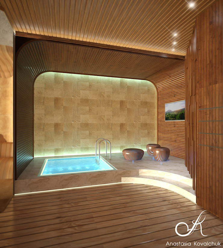 Spa Modern Spa by Design studio by Anastasia Kovalchuk Modern